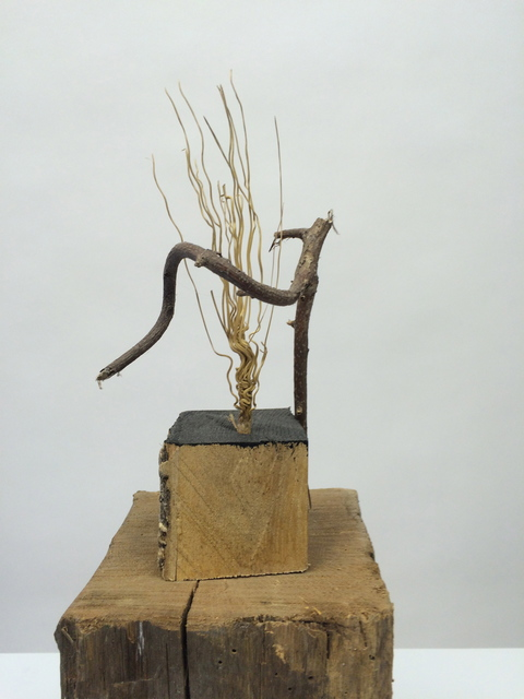 Small Sculptures Twisted Twig, Mortised and Bristel