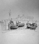 Philip Sugden, Artist Travel Journal Sketches Graphite on Moleskin paper
