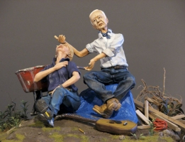 Phil Whitman Dioramas and Figures polymer clay figures and diorama materials on MDF