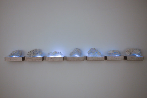 Phyllis Kudder Sullivan Architecture of Light Series Herend Porcelain, Stainless Steel Boxes