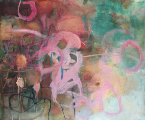 TRACEY PHYSIOC BROCKETT The Sagas  acrylic, oil and oilstick on paper