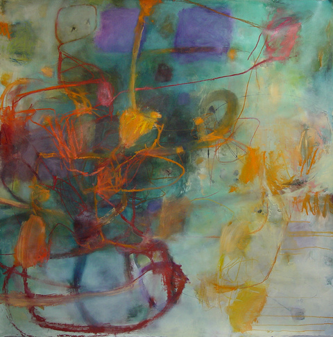 TRACEY PHYSIOC BROCKETT The Sagas  acrylic, ink, oil and oilstick on paper