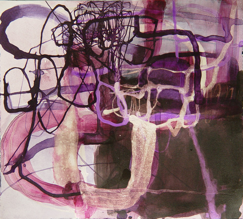 TRACEY PHYSIOC BROCKETT Daily Tangles, work on paper 2016-2017 ink and acrylic on paper