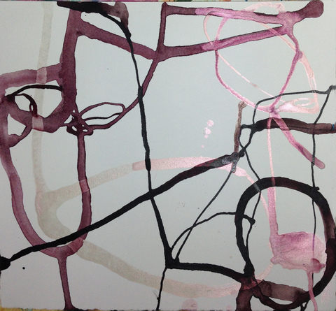 TRACEY PHYSIOC BROCKETT Daily Tangles and Fugue States ink on paper