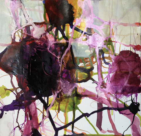 TRACEY PHYSIOC BROCKETT Daily Tangles and Fugue States ink and acrylic on paper