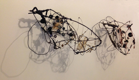 TRACEY PHYSIOC BROCKETT Liminal, Temporal, Mercurial wire, plaster acrylic, beads, buttons, shadow