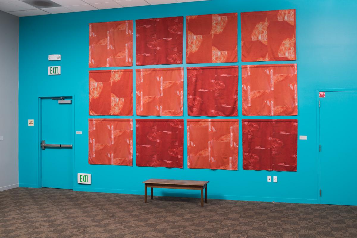 Pilar Agüero-Esparza Color Perception Simultaneous Contrast Wall