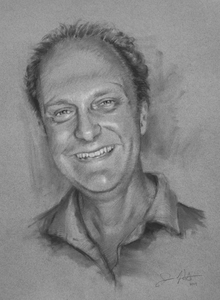 Jon Post Charcoal Portraits Charcoal on paper