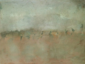 Priscilla Derven Paintings 2011-2012 monoprint, encaustic medium, oil on linen panel