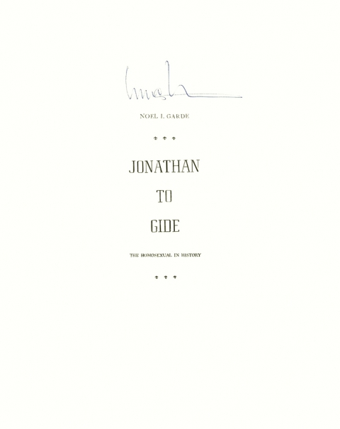 Lucas Michael Mein Buch Jonathan to Gide, 1964