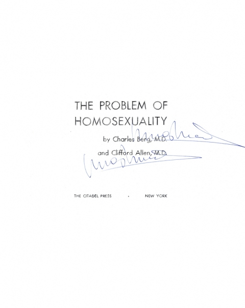 Lucas Michael Mein Buch The Problem of Homosexuality, 1958