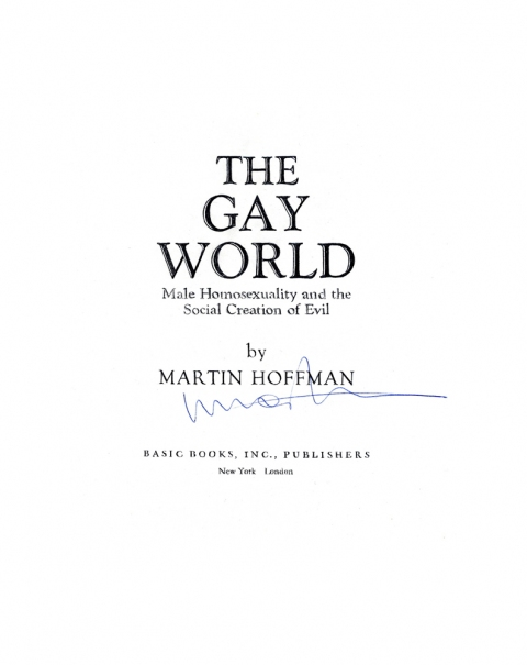 Lucas Michael Mein Buch The Gay World, 1968