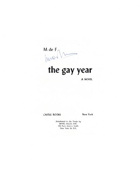 Lucas Michael Mein Buch The Gay Year, 1949