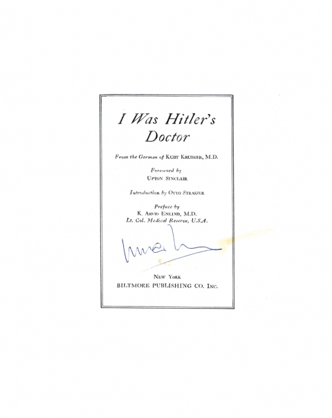 Lucas Michael Mein Buch I was Hitler's Doctor, 1943