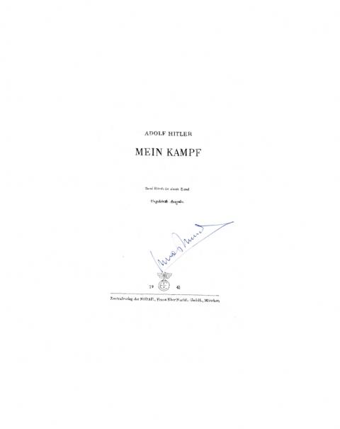 Lucas Michael Mein Buch Mein Kampf, 1941