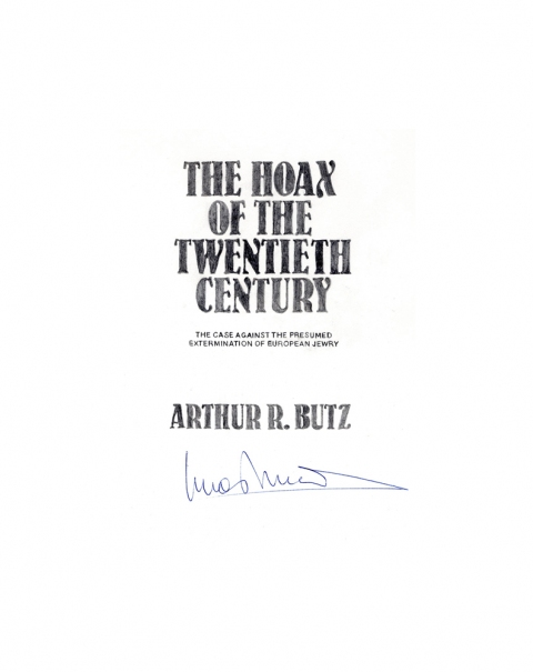 Lucas Michael Mein Buch The Hoax of the Twentieth Century, 1983