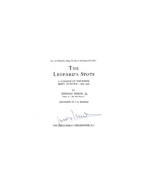 Lucas Michael Mein Buch The Leopard's Spots, 1967