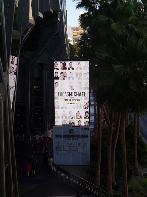 Lucas Michael Camera Obscura Las Vegas Strip signage