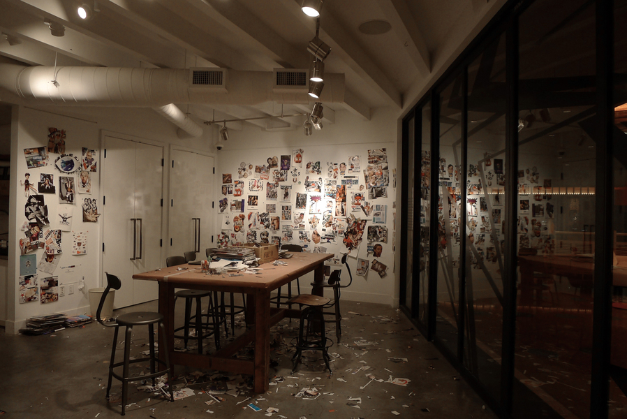 Lucas Michael Camera Obscura Collage room installation view