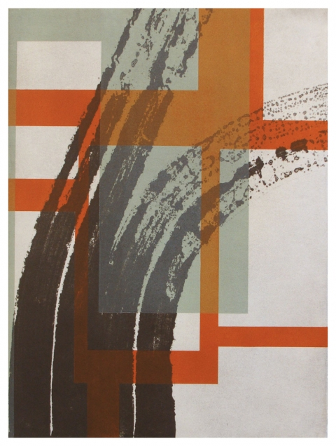 Ken Wood Strata 2010-14 Collagraph and Relief Monoprint
