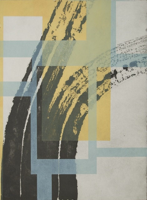 Ken Wood Strata 2010-14 Collograph and relief print