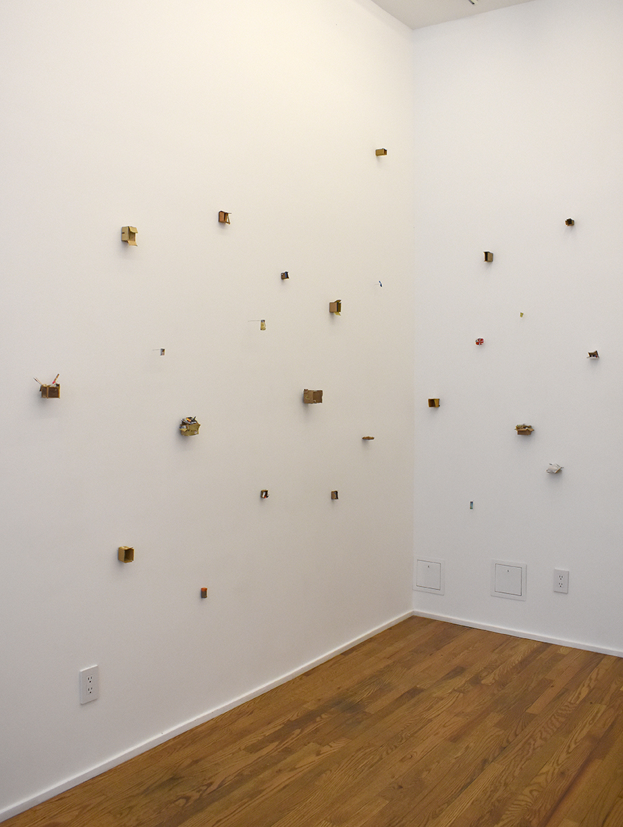 piles, boxes and other containers Installation view at Ulterior Gallery, New York, NY, 2017