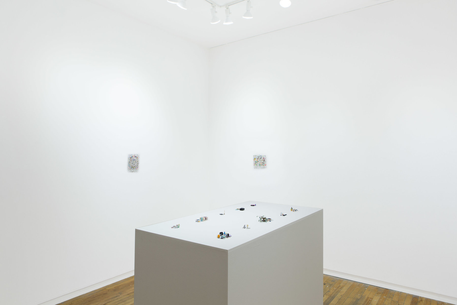 bedside tables Installation view Andrew Rafacz Gallery