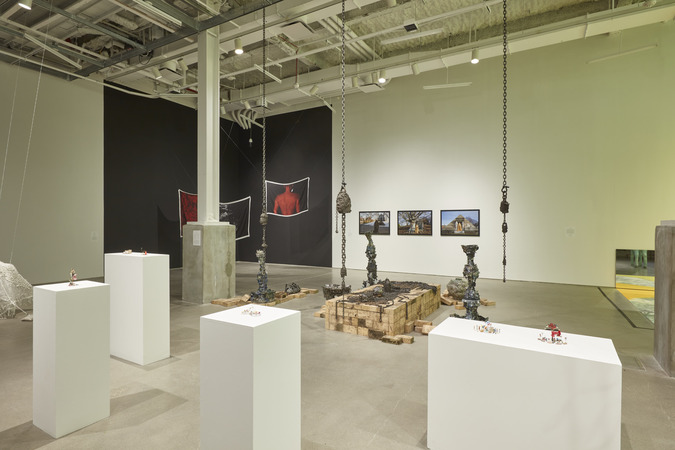 "installation view at BRIC, ""Death Becomes Her"""