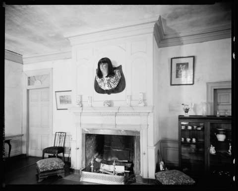 Mounted Obeast in the home of Charles Ayer, 1940