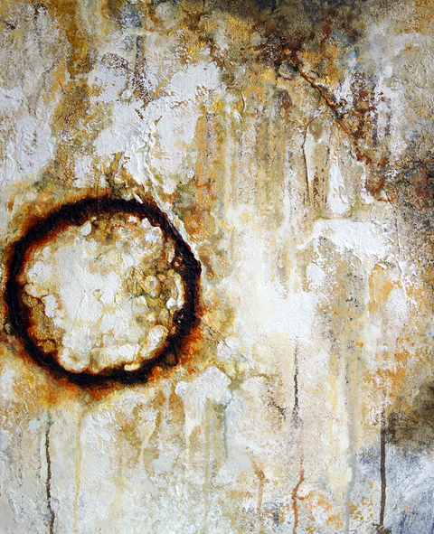 RACHEL SARD Abstract (Rust) mixed media and oil on canvas