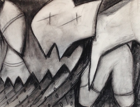 Rachel Sevanich Recent charcoal on paper