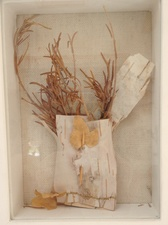 Randy Brozen      Artist and Educator Promises Bark,leaves,twigs, thread