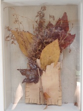 Randy Brozen      Artist and Educator Promises Bark,twigs,leaves, thread