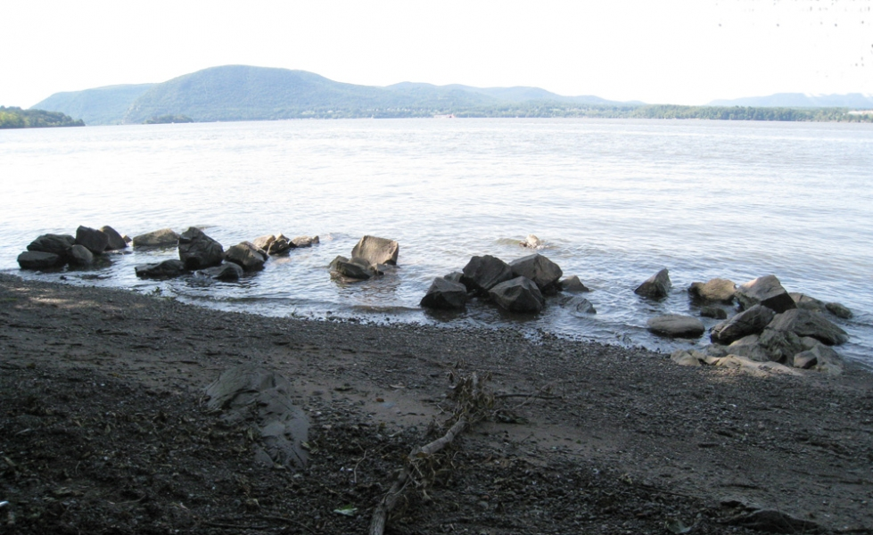 Stone sculpture installations 2000s Emergences, Denning's Point State Park, Beacon, NY