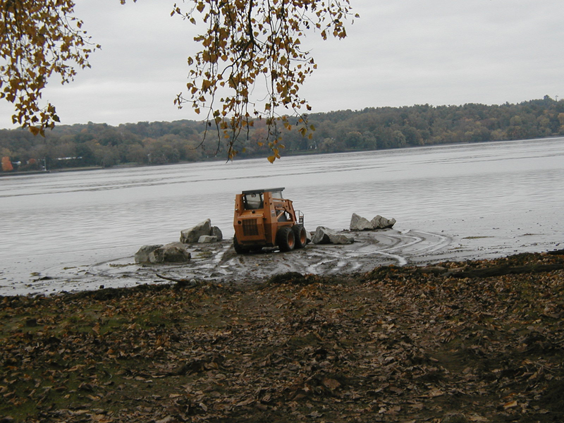 Stone sculpture installations 2000s Emergences, Ulster Landing Park, installation view