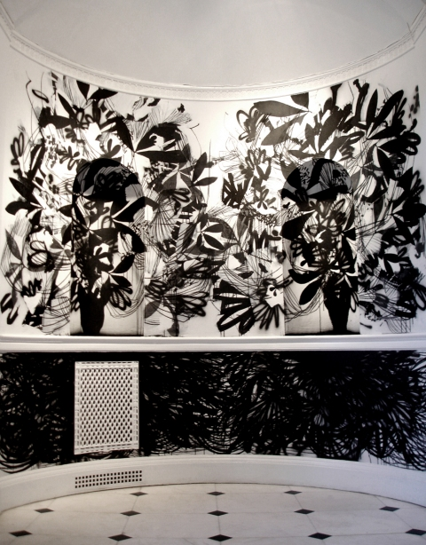 Raymond Saá 2006 Transplant/ Transculture, Wave Hill, New York ink on walls