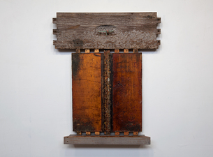 Rob Calvert Assemblages wood, metal and propolis