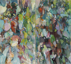Rob Calvert Paintings oil on canvas, diptych