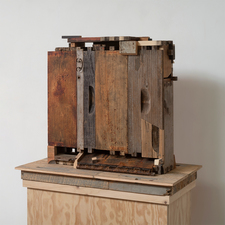 Rob Calvert Assemblages wood, paint, metal and propolis