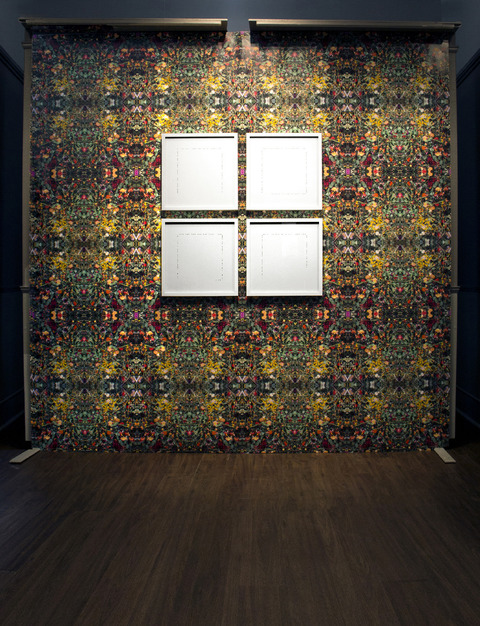 Renee Couture I Am a Country Made of Changing Places artist designed wallpaper, and gold leaf on paper