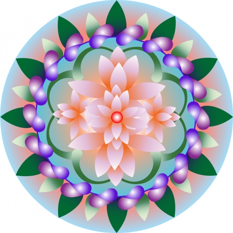 Rebecca J. Moran Digital Mandalas Archival digital print