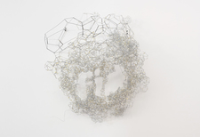 Rebecca Ripple work  Galvanized steel wire, tape