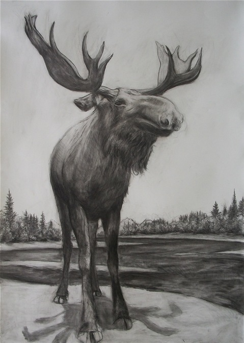 Reid Masselink Sold works on paper charcoal on paper