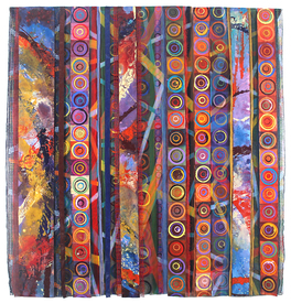 Reni Gower Triple Panels Mixed Media