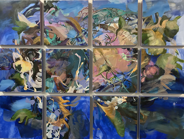 revi meicler PAINT Mixed media on panel  (12 panels, 12x12 inches each)