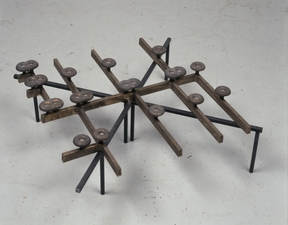 Richard Rezac Sculpture 1997-2003 Cast bronze and welded steel