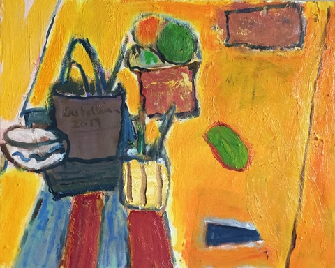 Richard Castellana Still Life Oil on Canvas