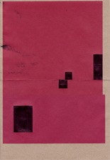 RICHARD CALDICOTT Envelope Drawings 2014 Ballpoint pen and inkjet on 2 paper envelopes
