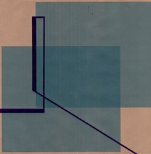 RICHARD CALDICOTT Envelope Drawings 2013 Ballpoint pen and inkjet on 2 paper envelopes