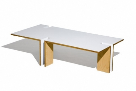 "Richard Roth — APHORISM/Furniture Design by Richard Roth 3/4"" Baltic birch plywood and plastic laminate"